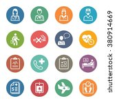 medical   health care icons set ... | Shutterstock .eps vector #380914669