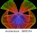 colorful digital abstract... | Shutterstock . vector #3809194