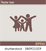 happy family icon in simple... | Shutterstock .eps vector #380921329