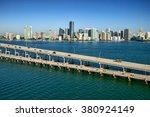 Aerial View Of Miami's Brickel...