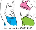 man and woman fitness bodies... | Shutterstock .eps vector #380924185