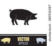 silhouette of pig vector... | Shutterstock .eps vector #380926387
