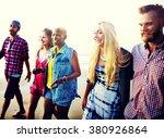 friendship bonding relaxation... | Shutterstock . vector #380926864