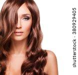 portrait  of beautiful sexy... | Shutterstock . vector #380929405