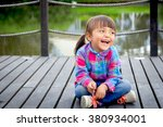 horizontal shot of 4 year old... | Shutterstock . vector #380934001
