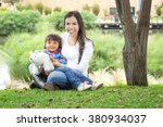 horizontal shot of mother and... | Shutterstock . vector #380934037