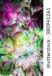 abstract flower background with ... | Shutterstock . vector #380941261