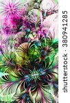 abstract flower background with ... | Shutterstock . vector #380941285