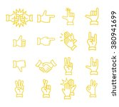 hand gestures from clapping... | Shutterstock .eps vector #380941699