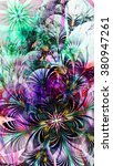 abstract flower background with ... | Shutterstock . vector #380947261