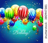 birthday greeting card with... | Shutterstock .eps vector #380947381