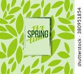 spring motivation typographic... | Shutterstock .eps vector #380951854