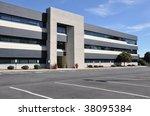 exterior of a modern office... | Shutterstock . vector #38095384