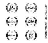 set of awards for best film ...   Shutterstock .eps vector #380963839
