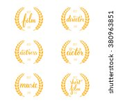 set of awards for best film ... | Shutterstock .eps vector #380963851
