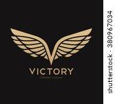 victory  wing  v letter logo... | Shutterstock .eps vector #380967034