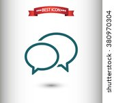 chat speech icon vector