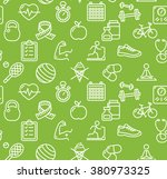 health life fitness background... | Shutterstock .eps vector #380973325