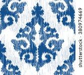 medieval ikat indigo textile...   Shutterstock .eps vector #380974669