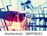 laboratory research  flask... | Shutterstock . vector #380978251