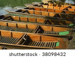 Punts Moored On The Backs Of...