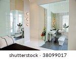 bedroom and bathroom | Shutterstock . vector #38099017