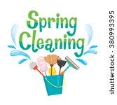 spring cleaning letter... | Shutterstock .eps vector #380993395