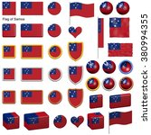 3d shapes containing the flag... | Shutterstock . vector #380994355