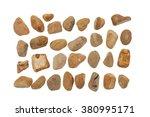 collection of ocean stones... | Shutterstock . vector #380995171