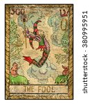 the fool.  full colorful deck ... | Shutterstock . vector #380995951