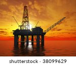 oil platform | Shutterstock . vector #38099629