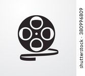 Постер, плакат: Film reel icon Film