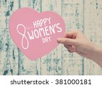 8 march happy womens day | Shutterstock . vector #381000181