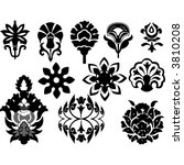 floral design element icons | Shutterstock .eps vector #3810208