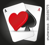 playing cards. illustration on... | Shutterstock .eps vector #381030775