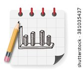 infographic chart doodle drawing | Shutterstock . vector #381035437