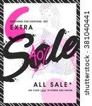 stylish sale flyer  banner or... | Shutterstock .eps vector #381040441