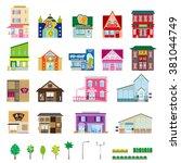 various building | Shutterstock .eps vector #381044749