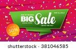 sale banner template design | Shutterstock .eps vector #381046585