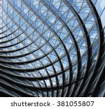 structural glass facade of... | Shutterstock . vector #381055807
