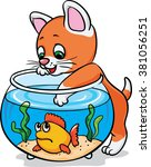 Kitten Catch Fish In The...