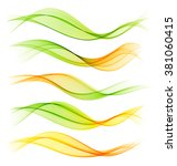 set of blend abstract wave.... | Shutterstock .eps vector #381060415