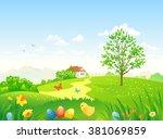 vector cartoon illustration of... | Shutterstock .eps vector #381069859