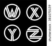 capital letters w  x  y  z.... | Shutterstock .eps vector #381070159