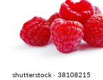 close up of fresh raspberry...   Shutterstock . vector #38108215