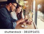 Happy Couple A Coffee Shop - Fine Art prints