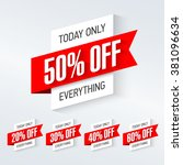 today only  one day super sale... | Shutterstock .eps vector #381096634