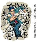 power business businessman... | Shutterstock .eps vector #381098245