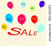 set the final sale vector... | Shutterstock .eps vector #381106351