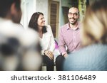diversity people discussion... | Shutterstock . vector #381106489